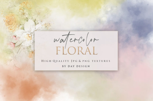 Watercolor Flowers Backgrounds Graphic Backgrounds By DAYDESIGN