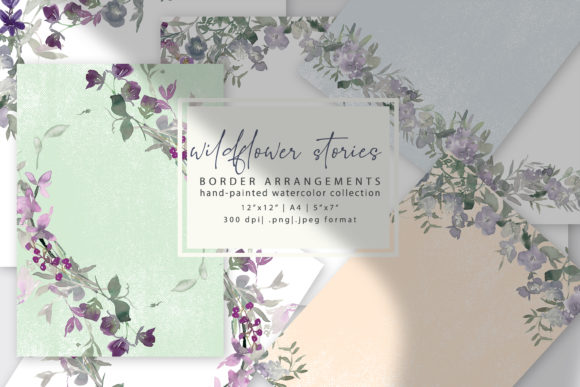 Watercolor Wildflower Backgrounds Graphic Backgrounds By Patishop Art