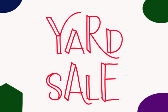 Print on Demand: Yard Sale Display Font By setiyadissi