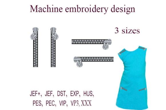 Zippers Sewing & Crafts Embroidery Design By ImilovaCreations - Image 1