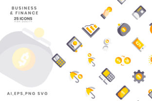 Print on Demand: Business Finance Flat Color VOL II Graphic Icons By hai hai