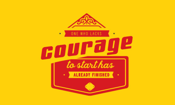 Print on Demand: Courage to Start Has Already Finished Graphic Illustrations By baraeiji