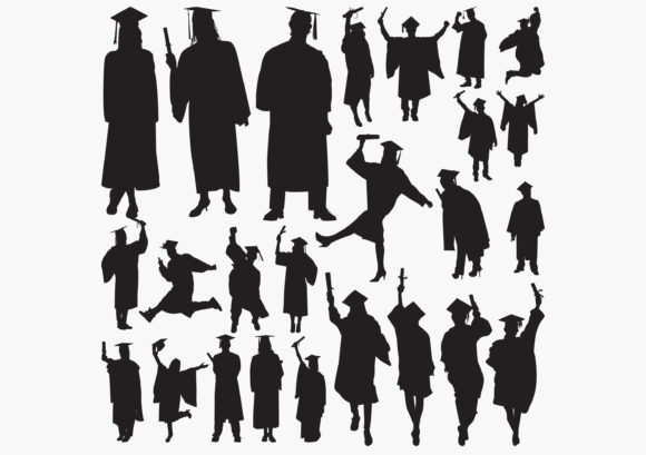 Graduates Silhouettes Graphic Graphic Templates By octopusgraphic