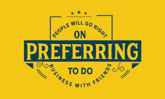 Print on Demand: Preferring to Do Business with Friends. Graphic Illustrations By baraeiji