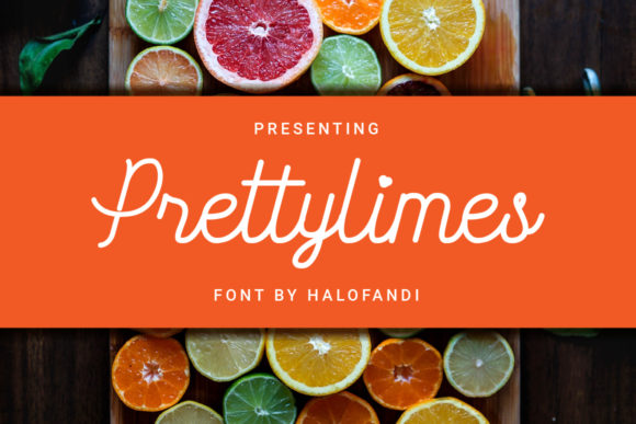 Print on Demand: Prettylimes Manuscrita Fuente Por halofandi