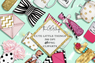 Print on Demand: Planner Girl Clipart Set Graphic Illustrations By TheGGShop