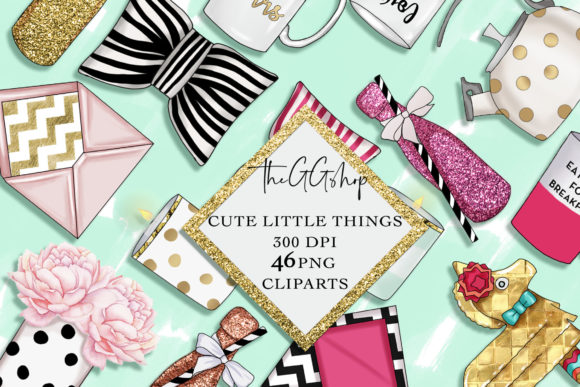 Print on Demand: Planner Girl Clipart Set Grafik Illustrationen von TheGGShop