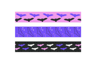 Halloween Bats Ribbons Halloween Craft Cut File By Creative Fabrica Crafts