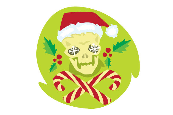 Christmas Skull Christmas Craft Cut File By Creative Fabrica Crafts