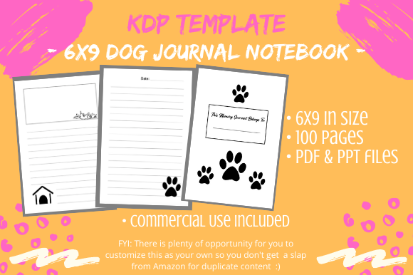 Print on Demand: Dog Journal Memory Notebook Graphic KDP Interiors By Tomboy Designs