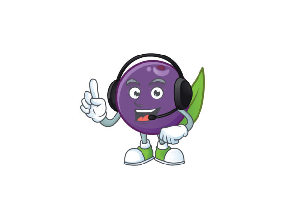 Acai Berries Cartoon Character Style Graphic Illustrations By KongVector2020