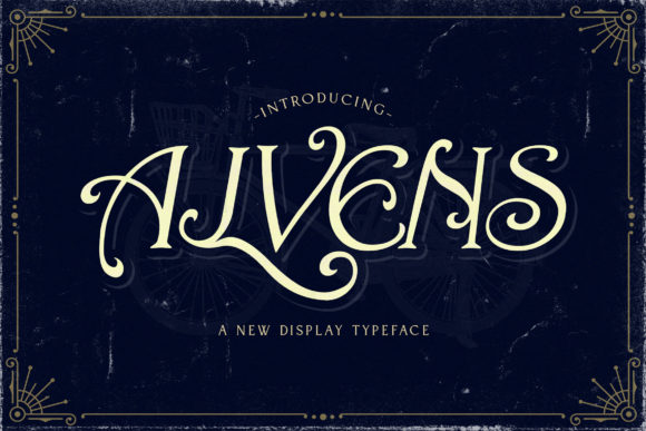 Print on Demand: Alvens Display Font By StringLabs