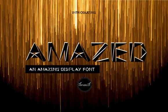 Print on Demand: Amazed Display Font By tanvara544