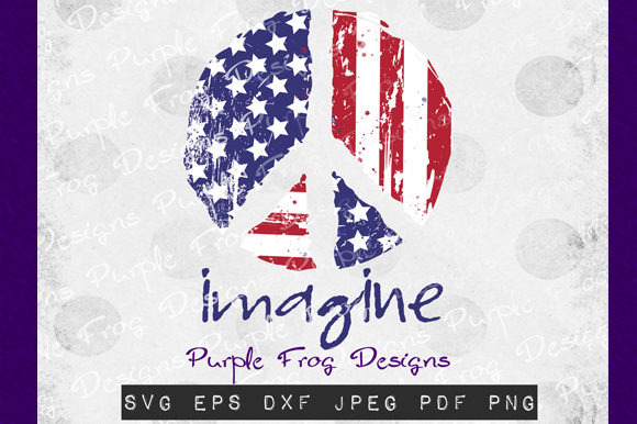 American Flag July 4th Peace Graphic Illustrations By Heather Terry