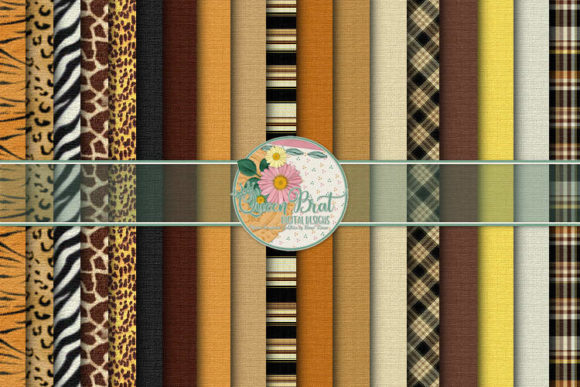 Print on Demand: Animal Magnetism Papers Graphic Backgrounds By QueenBrat Digital Designs