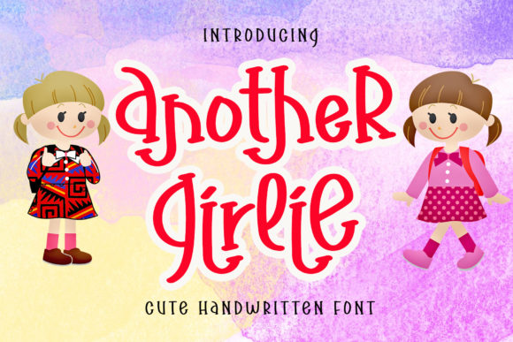 Print on Demand: Another Girlie Script & Handwritten Font By airotype