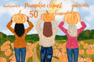 Print on Demand: Autumn Clipart Pumpkin Patch Fall  Graphic Illustrations By LeCoqDesign