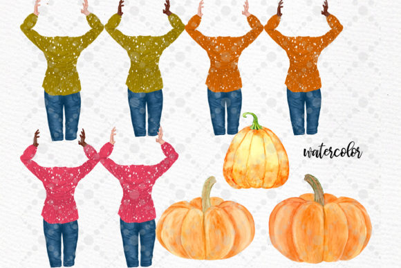 Autumn Clipart Pumpkin Patch Fall Graphic Illustrations By LeCoqDesign - Image 3