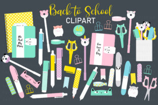 Back to School Clip Art Graphic Illustrations By Sweet Shop Design