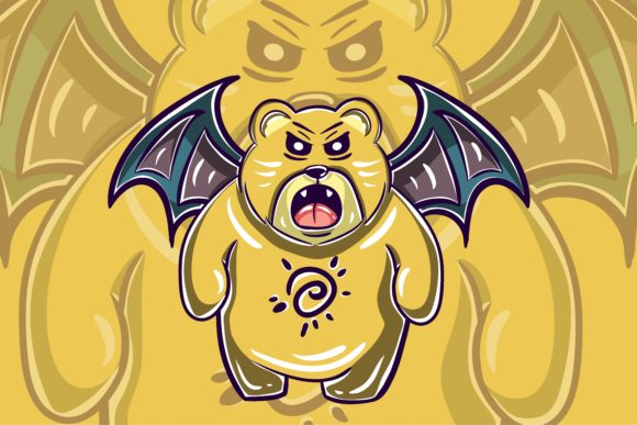 Print on Demand: Bear Monster Character 1 Graphic Illustrations By belangbiru