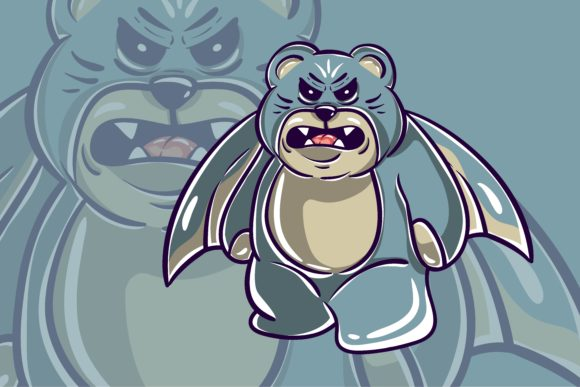 Print on Demand: Bear Monster Character 2 Graphic Illustrations By belangbiru