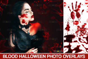 Blood Photo Overlay, Halloween Overlay Graphic Actions & Presets By 2SUNS