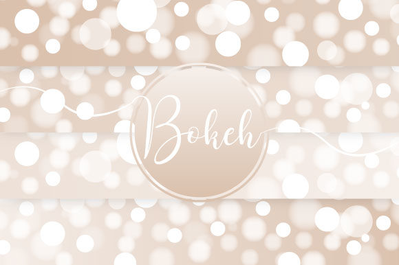Bokeh Gold Vector Graphic Illustrations By maree_gd