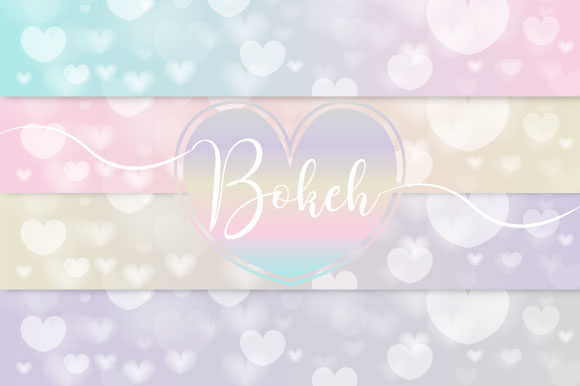 Bokeh Heart Vector Graphic Illustrations By maree_gd
