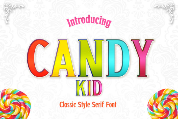 Print on Demand: Candy Kid Serif Font By numnim