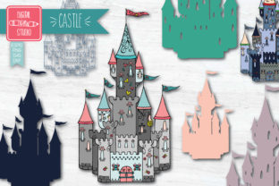 Castle Colored | Princess Royal Palace Graphic Illustrations By Digital_Draw_Studio