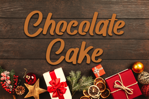 Chocolate Cake Font Free Download