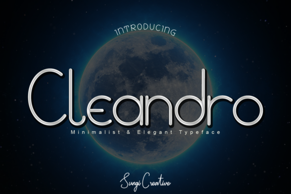 Print on Demand: Cleandro Display Font By SungiCreative