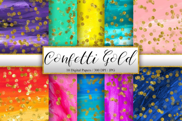 Confetti Gold Glitter Acrylic Background Graphic Backgrounds By PinkPearly