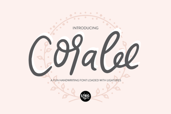 Print on Demand: Coralee Script & Handwritten Font By dixietypeco