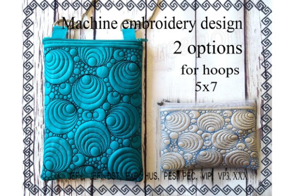 Cosmetic Bag in the Hoop Sewing & Crafts Embroidery Design By ImilovaCreations
