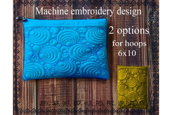 Cosmetic Bag in the Hoop Sewing & Crafts Embroidery Design By ImilovaCreations - Image 1