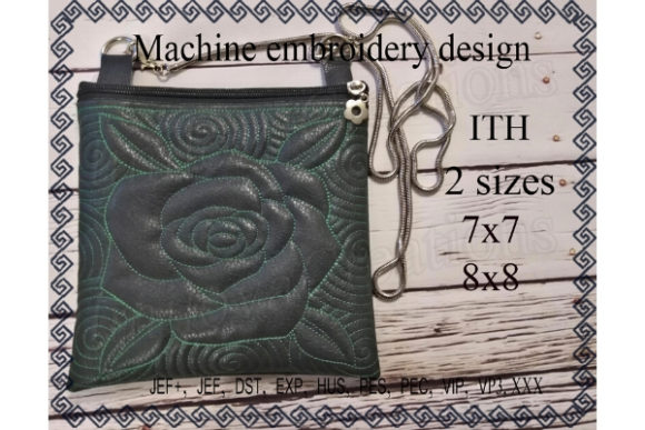 Cosmetic Bag in the Hoop - Rose Sewing & Crafts Embroidery Design By ImilovaCreations - Image 1