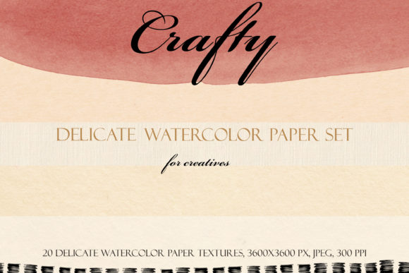 Crafty Delicate Watercolor Paper Set Graphic Textures By liquid amethyst art