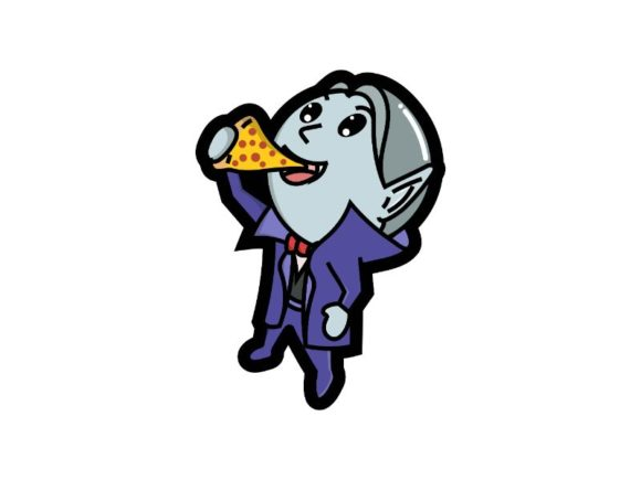 Print on Demand: Cute Vampire is Eating Pizza Graphic Illustrations By firdausm601