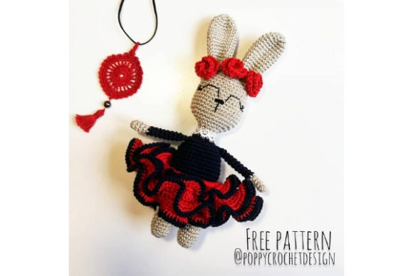 Feel the Rhythm Crochet Pattern Grafik Häkeln von Needle Craft Patterns Freebies