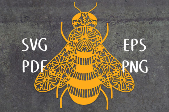 Print on Demand: Floral Honey Bee Cut File Graphic Crafts By Nic Squirrell