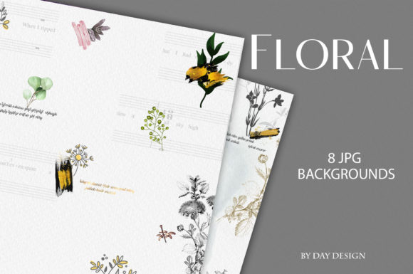 Flowers Backgrounds Graphic Backgrounds By DAYDESIGN