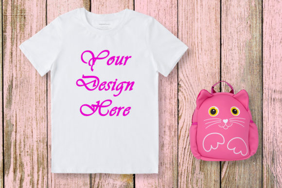 Girls Pink Mockup Graphic Product Mockups By MockupsByGaby