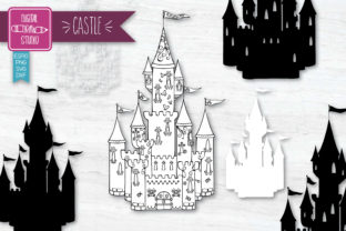Hand Drawn Castle Princess Royal Palace Graphic Illustrations By Digital_Draw_Studio