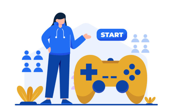 Illustration of Gaming Graphic Landing Page Templates By OKEVECTOR