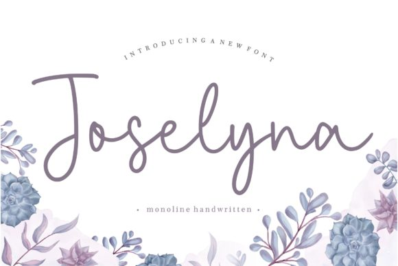 Print on Demand: Joselyna Script & Handwritten Font By Balpirick