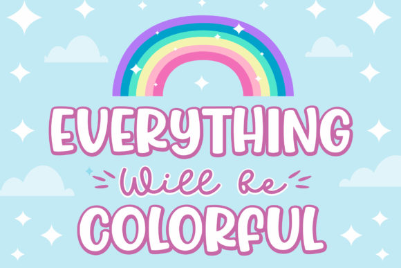 Print on Demand: Jumping Unicorn Display Font By Subectype - Image 2