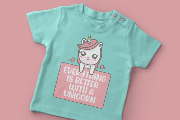 Print on Demand: Jumping Unicorn Display Font By Subectype - Image 4