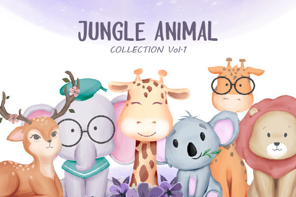 Jungle Animal Vol.1 Grafik Illustrationen von alolieli
