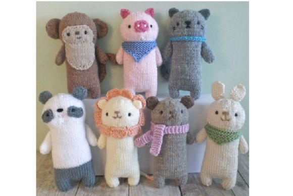 Knit Baby Animals Pattern Set Grafik Knitting Patterns von Amy Gaines Amigurumi Patterns